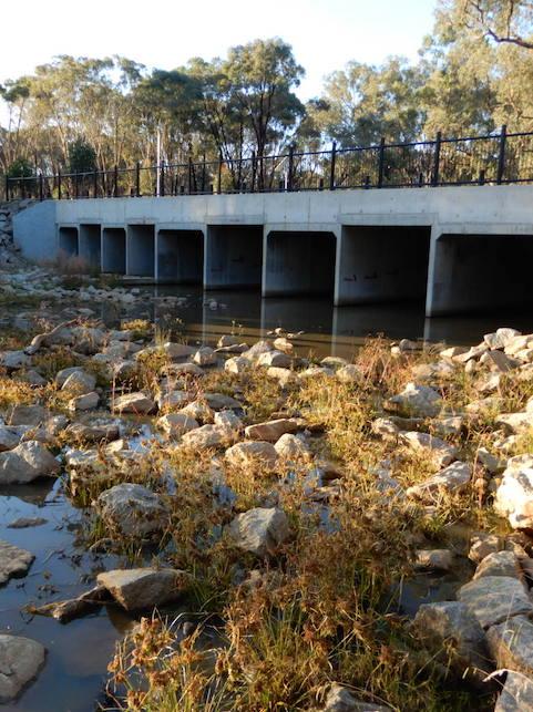 Eight Mile Creek Albury, Large Box Culverts